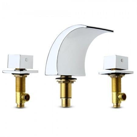 Images Of Color Changing Led Waterfall Basin Sink Faucet Tap Bathroom Chrome Finish Brass 47760940