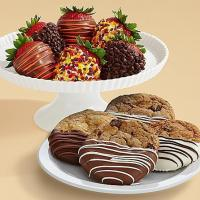 Buy cheap Gourmet Gifts & Sweets 4 Dipped Cookies & Half Dozen Autumn Strawberries from wholesalers
