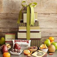 Quality Gourmet Gifts & Sweets Fruits, Cheeses & Snacks Tower for sale