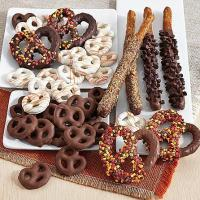Quality Gourmet Gifts & Sweets Autumn Dipped Pretzels for sale