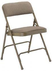 Folding Chairs 1285G Fabric Upholstered Metal Folding Chair 1 Padded Seat