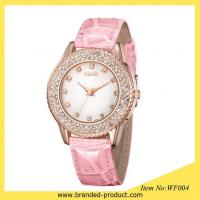 China Fashion Leather Strap Crystal Quartz Watch Ladies Women Jelly Wrist Watch on sale