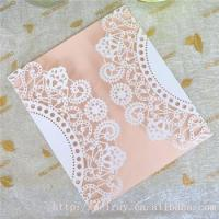 Quality Wholesale wedding invitation cards laser cut lace wedding invitations greeting card for sale