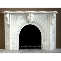 2014 Polished Simple White Marble Fireplace Facing Design For Sale
