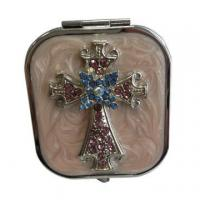 Quality Jeweled Cross Makeup Mirrors for sale