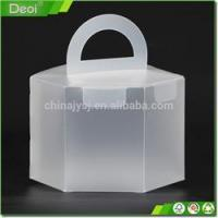 Buy cheap Clear plastic food packing box for cake small clear folding Customized from Wholesalers