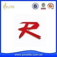 Quality Custom made metal R car badge with red soft enamel for sale