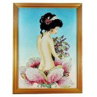 Quality 1600.00 Ct. Delightful Baguette Inlaid Gems Artwork Of Nude Women for sale