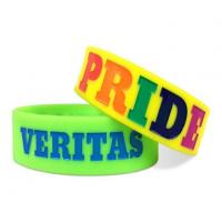 Custom Fasionalable Debossed Silicone Wristbands with Color Filled