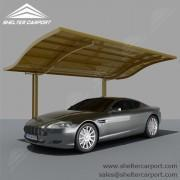 Buy cheap Large Aluminum Carport with Waves Top from Wholesalers