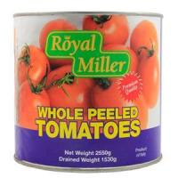 Quality Canned Vegetables Tomato Whole Peeled - Royal Miller 6x2550g for sale