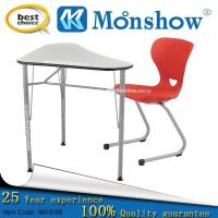 China Wholesale School Desk With Chair Of School Furniture,zhejiang MOONSHOW on sale