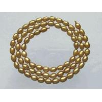 Buy cheap Glittering Metallic Gold Foil Pearls 5x4mm from Wholesalers