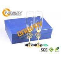 Quality Promotional Screen Printing Wine Glass Packing Box With Corrugated Board for sale