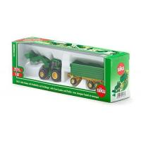 Quality VIEW DETAILS 1:87 John Deere Tractor With Loader & Trailer for sale