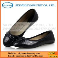 Buy cheap Classic Black Women Flat Shoes With Snakeskin Pattern from wholesalers