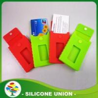 Quality Red and Green Silicon Phone Card Holder for sale
