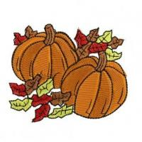 Quality Fall Pumpkins Embroidery Design for sale
