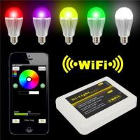 Quality LED Panel Light Iphone IOS for Android Smart Phone + 9W RGBW LED Bulb for sale