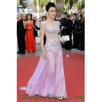 Quality Gorgeous Ginnifer Goodwin Cut Out Long Sleeves Green Sexy Evening Dress Celebrity Red Carpet for sale
