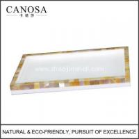 Quality Bathroom Accessories Golden Mother of Pearl Trays for sale