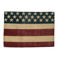 "Buy cheap Burlap Flag Placemat (13x19"") from Wholesalers"