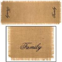 "Buy cheap 36"" Family Burlap Runner from Wholesalers"