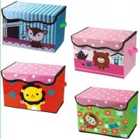 Eco-friendly Collapsible Multipurpose Fabric Children Toys Cloth Cartoon Storage Box Case Folding