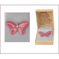 Quality Carved Rhodonite Butterfly Pin for sale