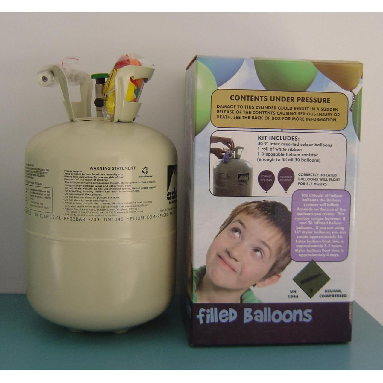 High purity gas & industrial gas Helium in disposable tank