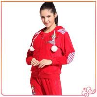 Quality 2014 china lovely red wholesale velvet for women branded cheap tracksuits sports for sale