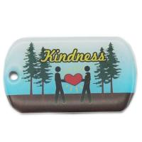 Factory custom printed dog tag with epoxy