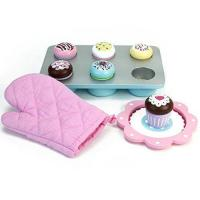 Quality Melissa & Doug Bake and Decorate Wooden Cupcake Play Food Set for sale