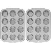 Wilton Recipe Right Nonstick 12-Cup Regular Muffin Pan (2, STANDARD)