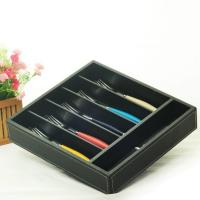 Quality hollow out bamboo cutlery tray for sale