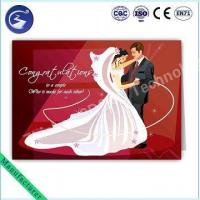 Quality Customized Design 3D PP Lenticular Wedding Card Greeting Card for sale