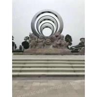 Quality Modern Sculptures Round Glossy Art Steel With Good Price for sale