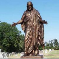 Buy cheap Outer Bronze Casting Figure Jesus Statues for Graveyard Decoration from wholesalers