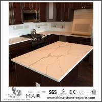 Buy cheap White Calacatta Engineered Quartz Stone Kitchen Countertops with Cheap Cost from wholesalers