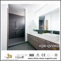Buy cheap Cheap White Quartz Vanity Tops with Double Sink for Bathroom Decoration from wholesalers