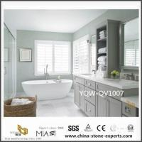 Buy cheap Custom White Quartz Vanity Tops with Sink for Bathroom Design from wholesalers