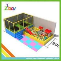 rectangular kids indoor trampoline bed with soft play from chinese toy capital of hzflzs. Black Bedroom Furniture Sets. Home Design Ideas