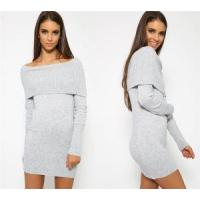 Buy cheap New Design Big Cowl Neck Dress Bodycon Angora Like Knitwear Women from Wholesalers