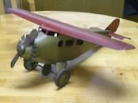 Quality 1930s Prewar Antique Classic Usa Propeller Plane Bomber Airplane Tin Steel Toy for sale