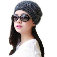 Quality Knitted Womens Hats Adult Women Casual Solid Skullies Beanies Winter Hat Bandana Cap for sale