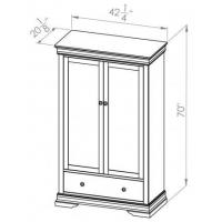 Quality Bedroom Bayshore 1 Drawer Armoire for sale