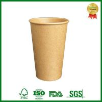 Buy cheap Food Grade Single Wall Brown Kraft Paper Coffee Cup With Lid from Wholesalers