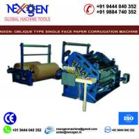 Quality Oblique Type Single Face Paper Corrugation Machine for sale