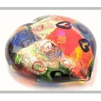 """Quality Glass Paperweights For Sale,""""Red Heart"""" 2015 by Michael Maddy and Rina Fehrensen of Mad Art. for sale"""