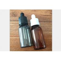 Quality Wholesale black 30ml PET plastic e juice bottle with glass pipette childproof and tamper cap for sale